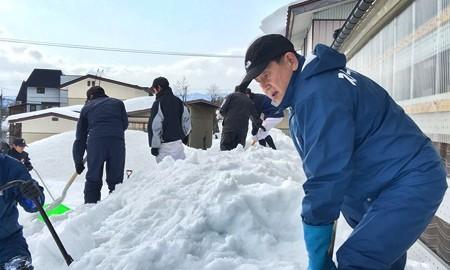 除雪ボランティア 【大石田中学校野球部】